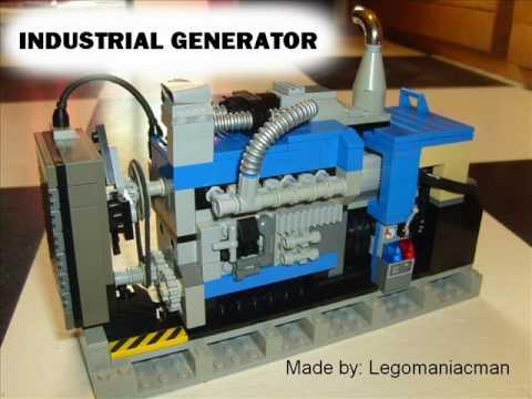 lego industrial generator madeby legomaniacman youtube