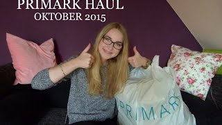 XXL Primark Haul Oktober 2015 | talkingtomke