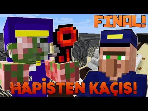 Minecraft - HAPİSTEN KAÇIYORUZ! - HAPİSTEN KAÇIŞ 2! - (Özel Harita) FİNAL!