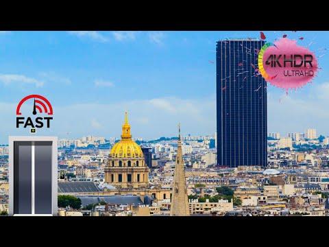 Montparnasse tower, Top of Paris, 4K GoPro Hero 4