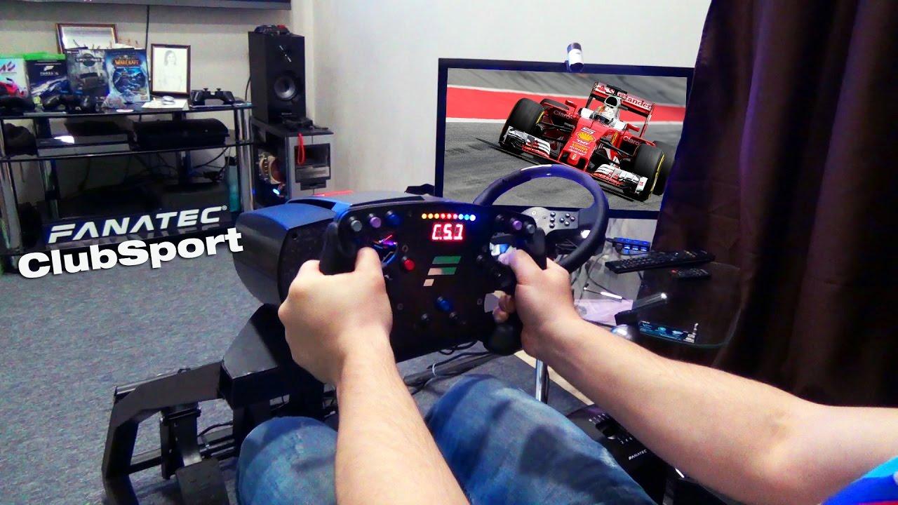 Обзор лучшего руля для F1 Fanatec Clubsport Steering