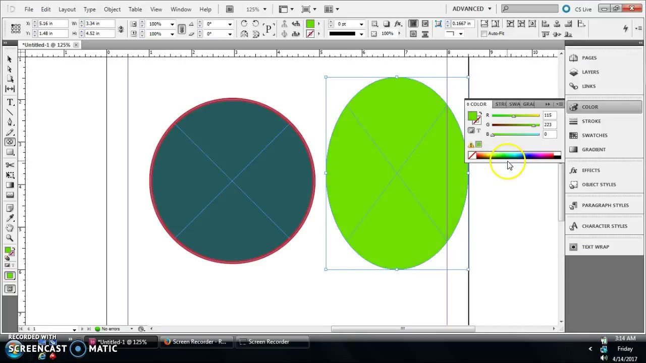 Indesign Tutorial How To Create Circles Ovals In Indesign Youtube