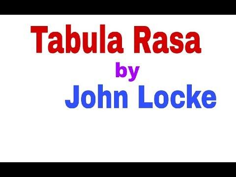 Tabula Rasa( तबुला रासा) by John Locke for Dsssb PRT CTET UPTET assistant teacher 2nd and ist grade