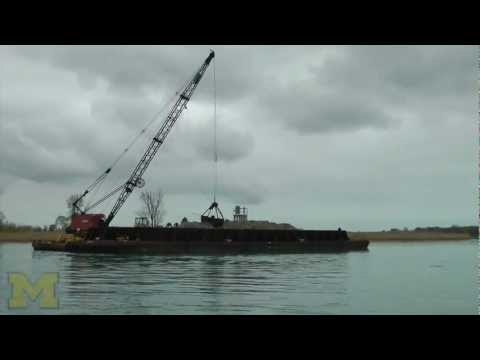 Construction of new rock spawning reefs on the St. Clair River