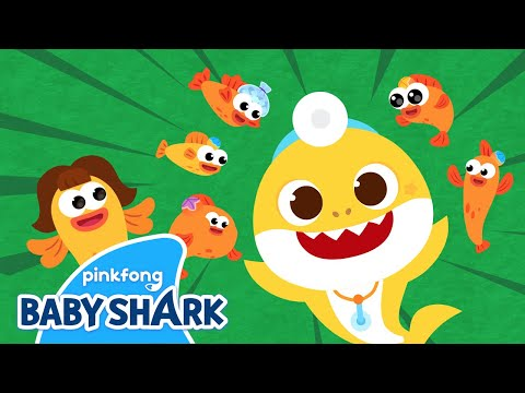 Five Little Fishes Jumping On The Kelp | Sing Along With Baby Shark |  Baby Shark Official