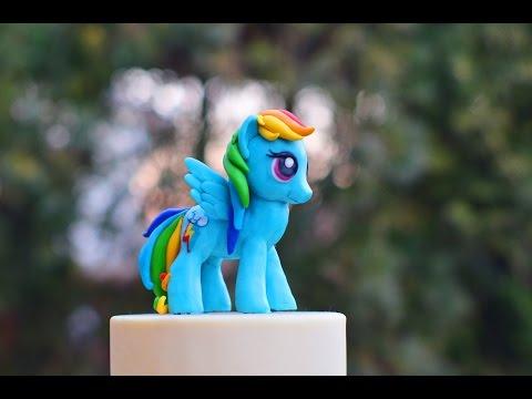 How To Make A Rainbow Dash Cake Topper