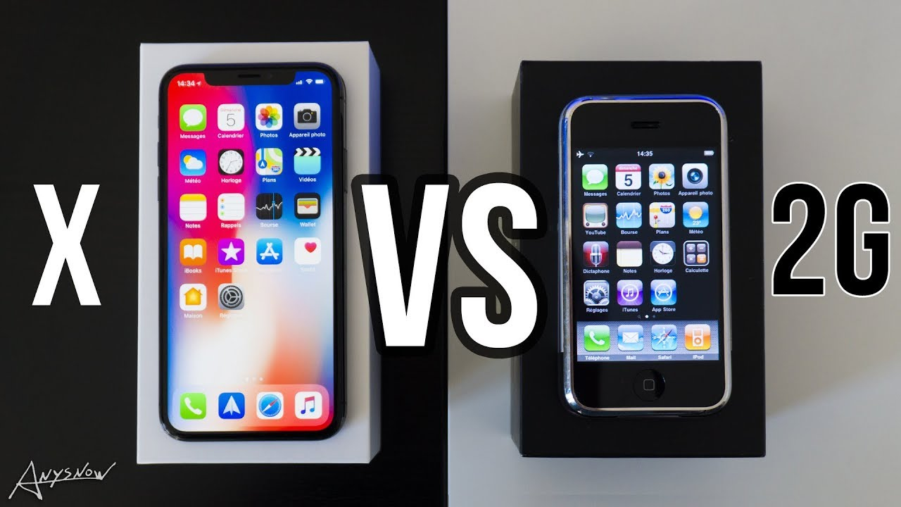 iphone x vs iphone 1 2g edge original 10 ans d 39 volution youtube. Black Bedroom Furniture Sets. Home Design Ideas