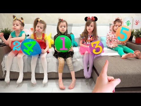 Eva Learning Colored Numbers | Ева учит