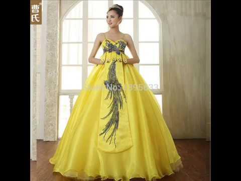 Vestidos De Noiva Amarelo
