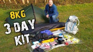 Backpacking gear | What goes in my Osprey Levity 45 backpack for a 3 day camping trip ?