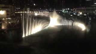 Dubai Mall  Dubai Dancing Fountain slow music, near Burj Khalifa, the best fountain i ever seen