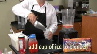 How to make a fruit smoothie and frappe with FrozenX-plosion