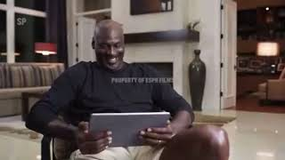 MJ laughing at Gary Payton's defense in last dance