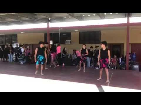 Our boys dancing at Barstow High school lunch.