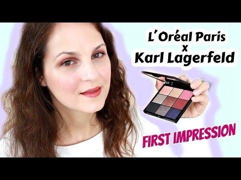 KARL Lagerfeld X LOreal Paris / Schönste Make-up LE 2019? Drogerie Neuheit First Impression