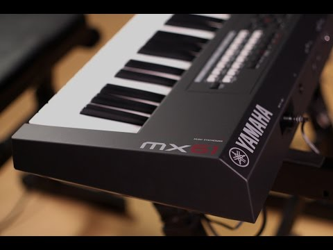 Yamaha MX61 Music Synthesizer Demo with Cubase Integration
