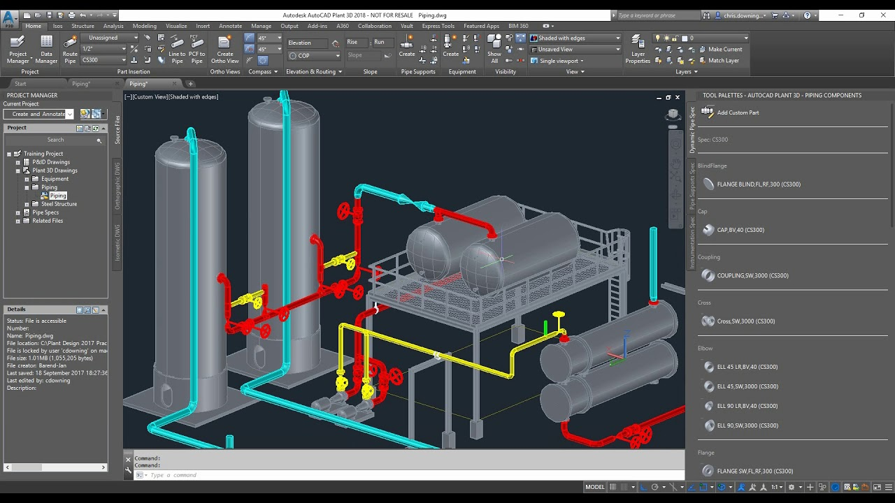 Export from Plant 3D to Import and create Revit Family File
