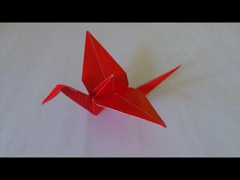 Cara Membuat Origami Burung Bangau   Origami Burung   Origami Binatang