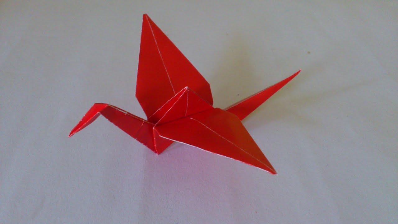 Cara Membuat Origami Burung Bangau | Origami Burung | Origami Binatang