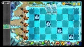 Plantas vs Zombies 2:Cuevas Congeladas|dias 1,2,3,4 y 5