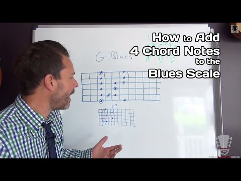 How to Add The 4 Chord Notes To The Blues Scale