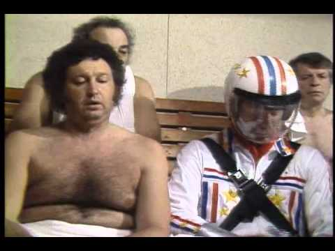 Super Dave Osborne's steam room stunt
