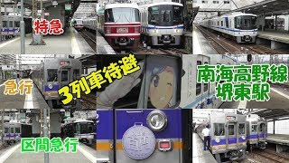 各停が特急・急行・区急の3列車を待避!南海高野線堺東駅