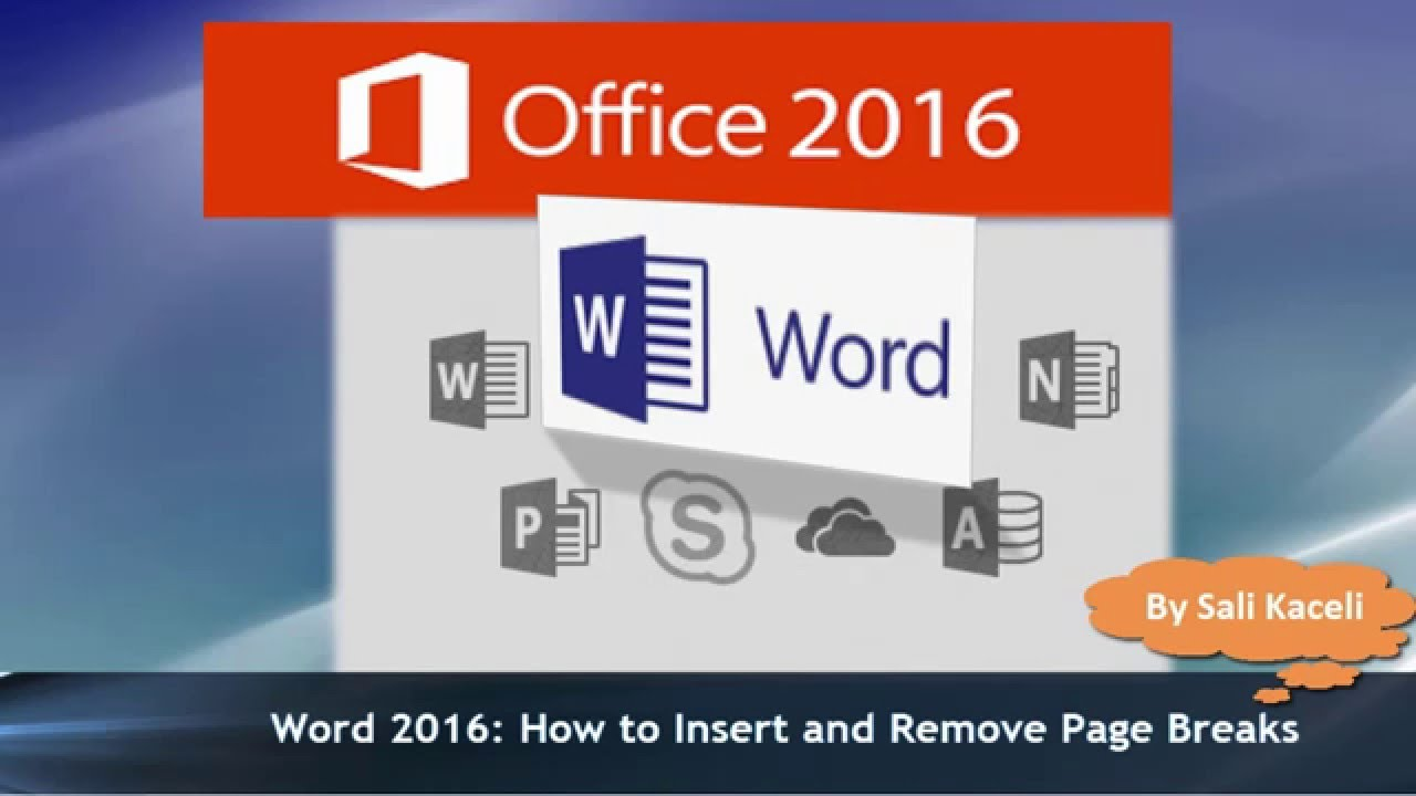 Word 2016 Tutorial: Inserting And Removing A Page Break To A Document (19)   Youtube