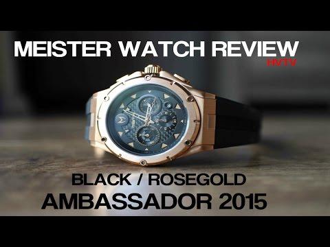 MEISTER/MSTR WATCH REVIEW 2015 - ROSE GOLD AMBASSADOR