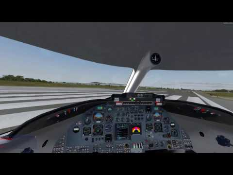 Flysimware Learjet and MCE Voices Part2 The Flight