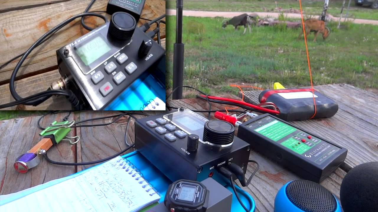LNR's FX-4 CW/SSB Transceiver during a 20m CW QSO