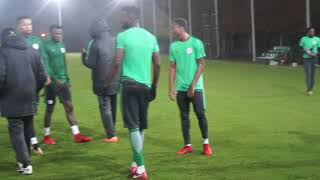 Super Eagles 1st Training Session Ahead Of The Friendly Match Against Argentina. 12 11 2017