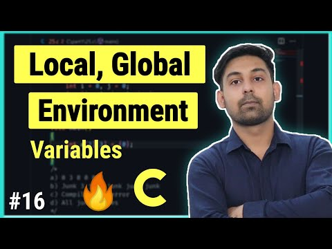 Local, Global & Environment Variables In C, Full Lecture In Hindi By Nirbhay Kaushik