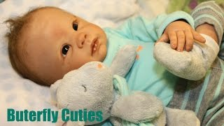 Changing Bathing and Feeding Charlie | Carters Outfit | Reborn Baby Doll Boy | Dani - Linda Murray