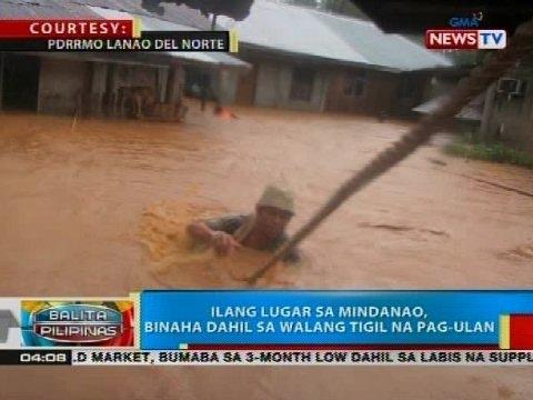BP: Ilang lugar sa Mindanao, binaha dahil sa walang tigil na pag-ulan
