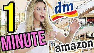 Kann ich in 60 SEKUNDEN ALLES bei DM & AMAZON kaufen? | XLAETA