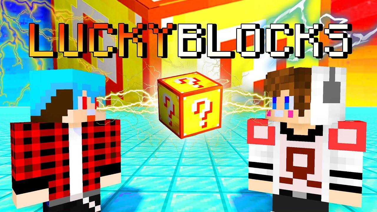 Minecraft LuckyBlock Spiral - เป็นแขกรับเชิญไปตบ UKEUKE