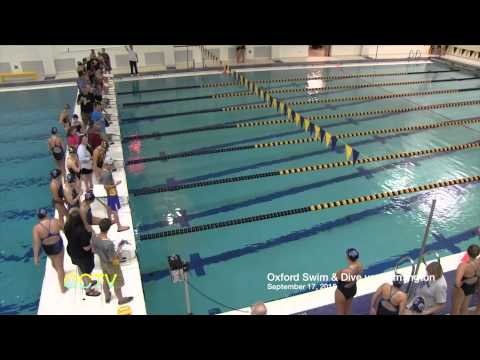 Oxford Girls Swim & Dive vs. Farmington 9-17-15