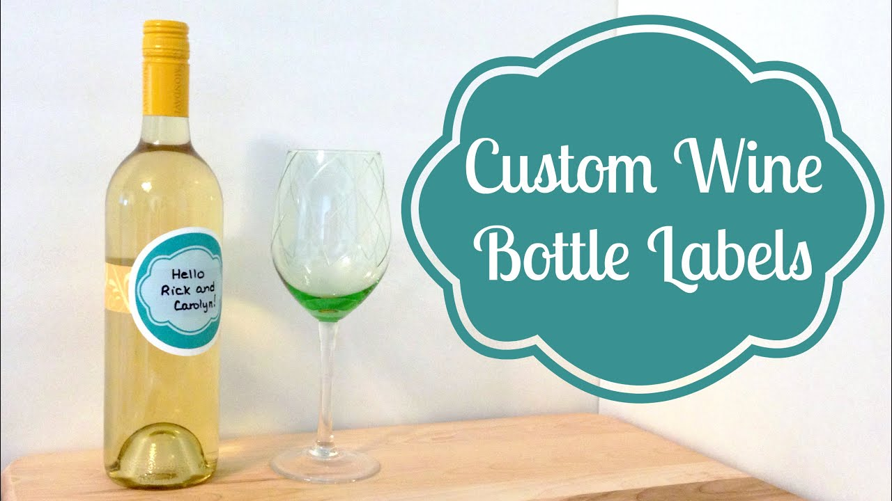 diy custom wine bottle labels partycrafthoa youtube. Black Bedroom Furniture Sets. Home Design Ideas