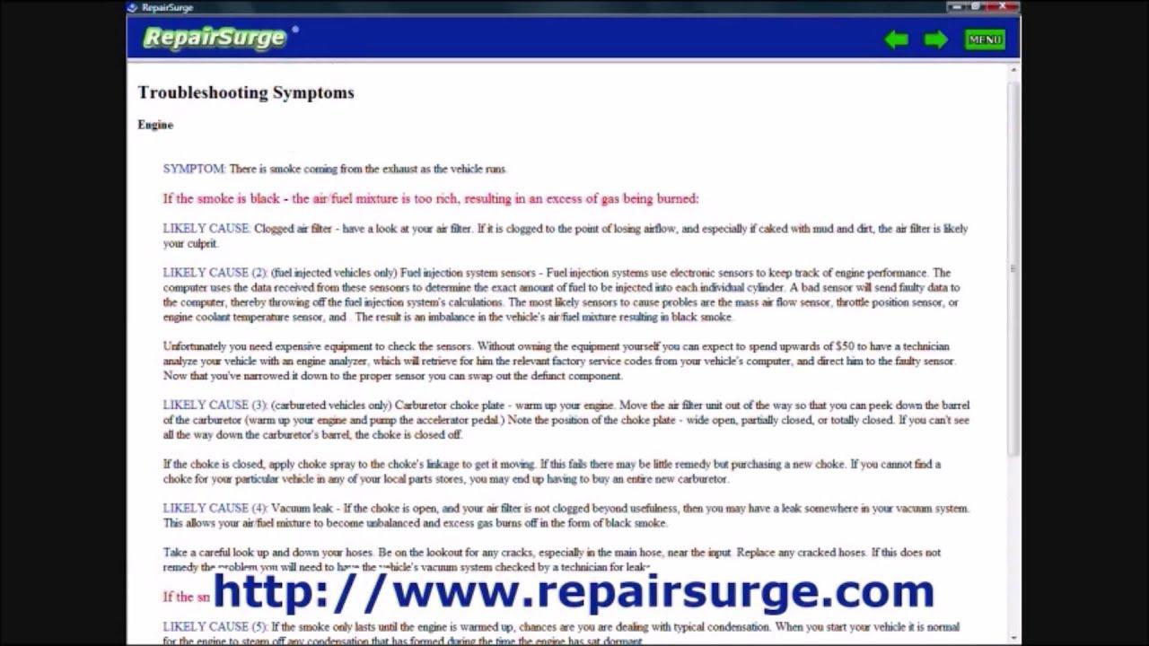 Acura RL Repair Manual / Service Info Download 1996, 1997, 1998, 1999, 2000, 2001, 2002, 2003