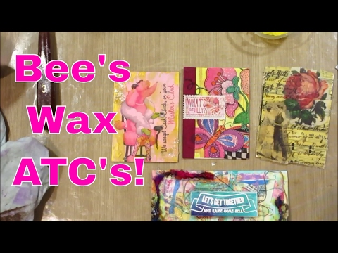 Beeswax Collage - Part 1 - ATC
