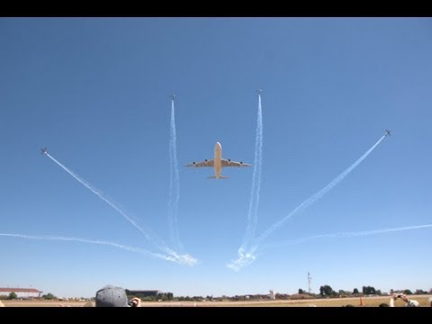 Airbus A340 with Silver Falcons at Airshow - Waterkloof Air Force Base 2012