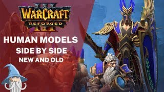 New Human (and Blood Elf) Models Side by Side with Old Models | Warcraft 3 Reforged Beta