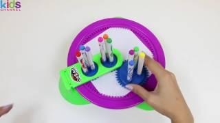Magic Cra-Z-Spiro Spinning Marker Playset Fun \u0026 Easy Spiral Art by Cra-Z-Art! - Kidschanel