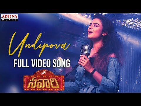 Undipova Full Video Song  Savaari Songs  Shekar Chandra  Nandu, Priyanka Sharma  Spoorthi