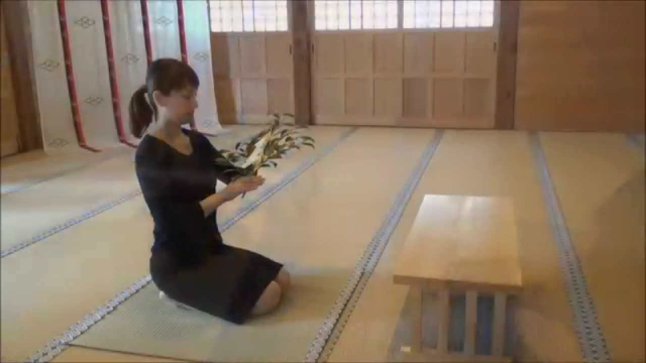 玉串拝礼の作法 (角館總鎭守 神明社) - YouTube