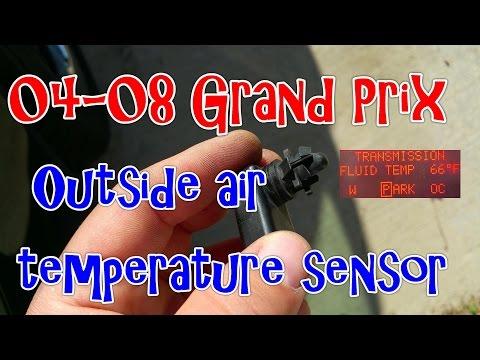 04-08 Pontiac Grand Prix – How to replace the Outside Air Temperature Sensor
