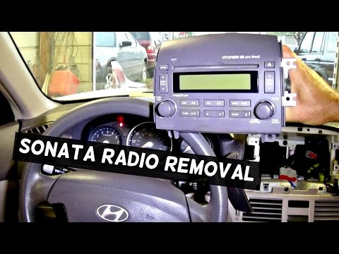 HYUNDAI SONATA RADIO REMOVAL REPLACEMENT 2005 2006 2007 2008 2009 2010