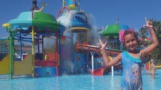 Antalya aqualand keyfi, büyük aquaparkta devam 2, Büyük kaydıraklar, Eğlenceli çocuk videosu