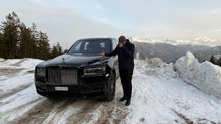 My Luxury Weekend Driving Rolls Royce Cullinan Black Badge 2020 in Switzerland